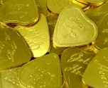 Gold Milk Chocolate Heart Coins 42mm