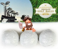 Golf Balls Novelty Belgian Chocolates For Father's Day
