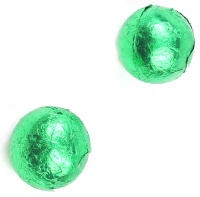 Green Foil Wrapped Milk Chocolate Balls 3Kg (600 balls)