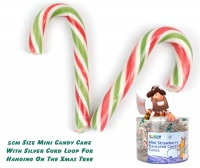 Mini Candy Canes With Hanging Loops x 100