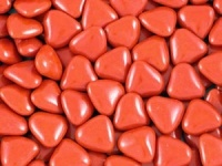 Mini Red Chocolate Heart Dragees