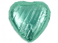 Mint Green Chocolate Hearts