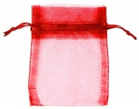 Red Organza Bags x 10