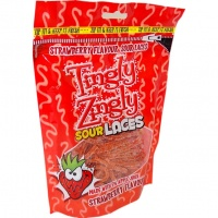 Sour Strawberry Laces (180gram Zip Bag)