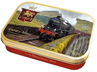 Stewarts Train Embossed Luxury Mints Tin