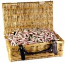 Candy Cane Wicker Hamper