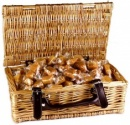 Christmas Pudding Fudge Wicker Hamper
