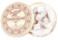 Turkish Delight Round Wooden Gift Box 400grams