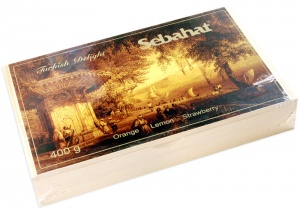 Turkish Delight Assorted Wooden Sebahat Gift Box 400g