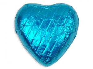 Turquoise Chocolate Hearts