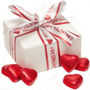Happy Valentines Day Gift Box Of Truffle Hearts