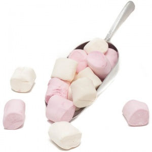 Vegan Marshmallows Pink & White (1Kg Bag)