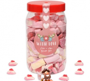 With Love Pick n Mix Sweet Jar